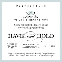 Pottery Barn Wedding Blog Launch Party