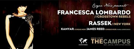 Cirque Noir presents Francesca Lombardo and Rassek