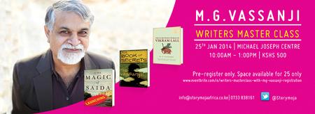 Writers' Masterclass with MG Vassanji