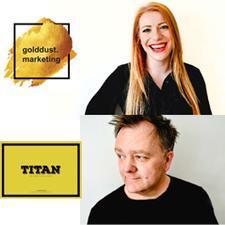 golddust marketing & Titan  logo