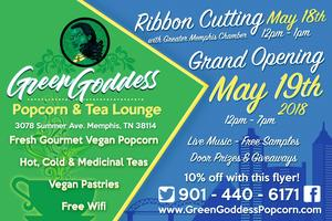 Green Goddess Popcorn & Tea Lounge Grand Opening