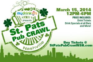 (STPATSNSH.COM FOR TICKETS) St Pats Pub Crawl Nashville