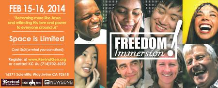 FREEDOM IMMERSION!