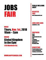 TORONTO JOB FAIR  - come in person with resumes