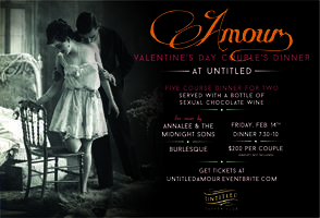 AMOUR: Valentine's Day Couples Dinner at Untitled