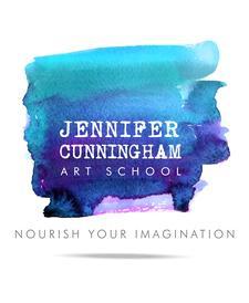 Jennifer Cunningham Art School logo