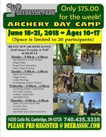 2018 Deerassic Archery Day Camp