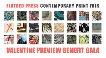 The Flatbed Contemporary Print Fair Valentine Benefit G...