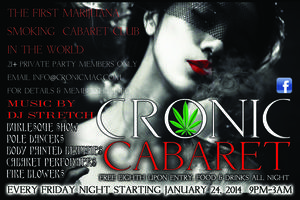 CRONIC CABARET EVERY FRIDAY NIGHT IN DENVER'S ART...