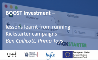 BOOST Investment - lessons learnt from Kickstarter...
