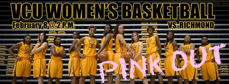 VCU Women's Basketball PINK OUT