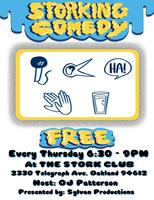 Storking Comedy: Free Stand-Up & Interviews in Oakland