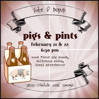 Pigs & Pints PopUp at Suite D