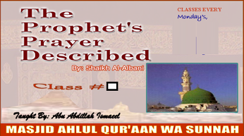 "Book ""The Prophets Prayer Described"" by Shaikh..."