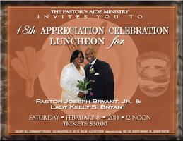 18th Appreciation Celebration Luncheon for Pastor...