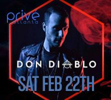 PRIVÉ Saturdays Presents ::  Don Diablo  :: Saturday...