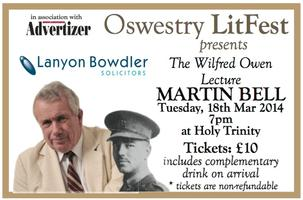 The WIlfred Owen Lecture with MARTIN BELL logo