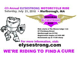 4th ANNUAL ELYSESTRONG MEMORIAL RIDE