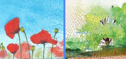 Crackle Paste Mosaic Acrylics with Jen Livia