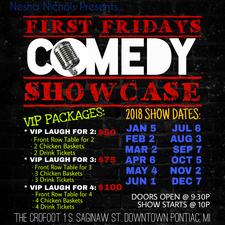 First Fridays Comedy Showcase logo