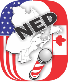 NED- Northeastern District (Barbershop Harmony Society) logo