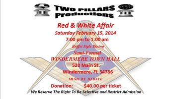TWO PILLARS RED & WHITE AFFAIR