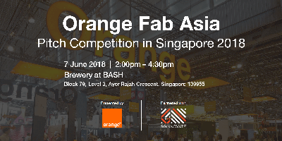 Orange Fab Asia Pitch Competition in Singapore 2018