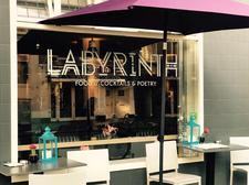 Labyrinth cocktail, food & poetry bar logo