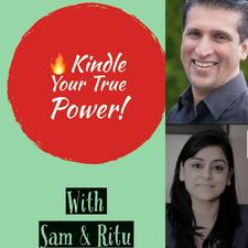 Ritu Sharma and Sam Dossa logo