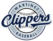 Martinez Clippers Baseball logo