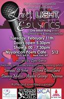 LOVE, LIGHT & LYRICS: a One Billion Rising event
