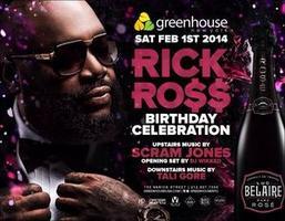 RICK ROSS Celebrity Birthday Bash at Greenhouse NYC &...