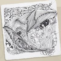 Zentangle: Black Tiles