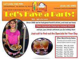 La Fonda Oak Hills After Work, After Class Party and...