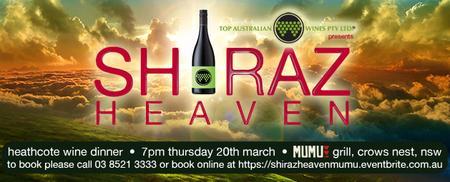Shiraz Heaven at Mumu Grill