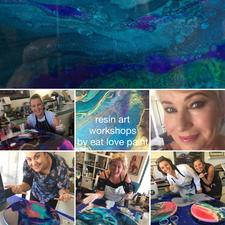 Resin Art Workshop One on One - private lesson to create your own resin art