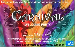 LASA CARNIVAL WELCOME PARTY!!