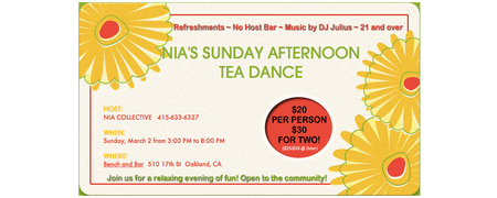 NIA Collective's Sunday Afternoon Tea Dance