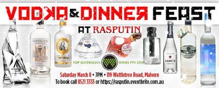 Vodka & Dinner Feast at Rasputin