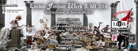 LONDON FASHION WEEK A/W 2013 - 'RETROGRESSION'.