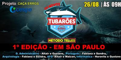 SÃO PAULO-SP |OS NOVOS TUBARÕES - PROJETO CAÇA ERROS...