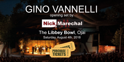 Nick Marechal opening for Gino Vannelli
