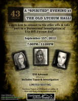 A Spirited Evening at The Old Lyceum
