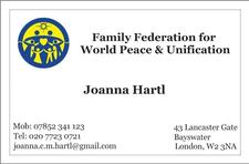 Family Federation for World Peace and Unification, Joanna Hartl logo