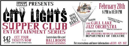 City Lights Supper Club - Dinner and Dancing Series
