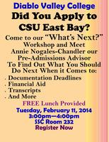 "Diablo Valley College ""What's Next?"" Workshop"