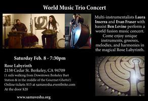 World Music Trio Concert - Laura Inserra, Evan Fraser,...