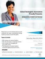 Global Strategists Association Women's Day 2014...