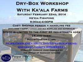 Dry Box making workshop