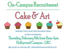 On Campus Recruitment - Cake and Art